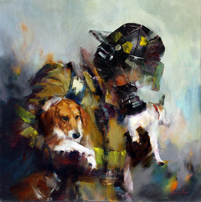 Liu, FiremanAndDogs