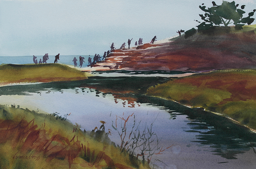 Watercolor painting of Natural Bridges by Veronica Gross