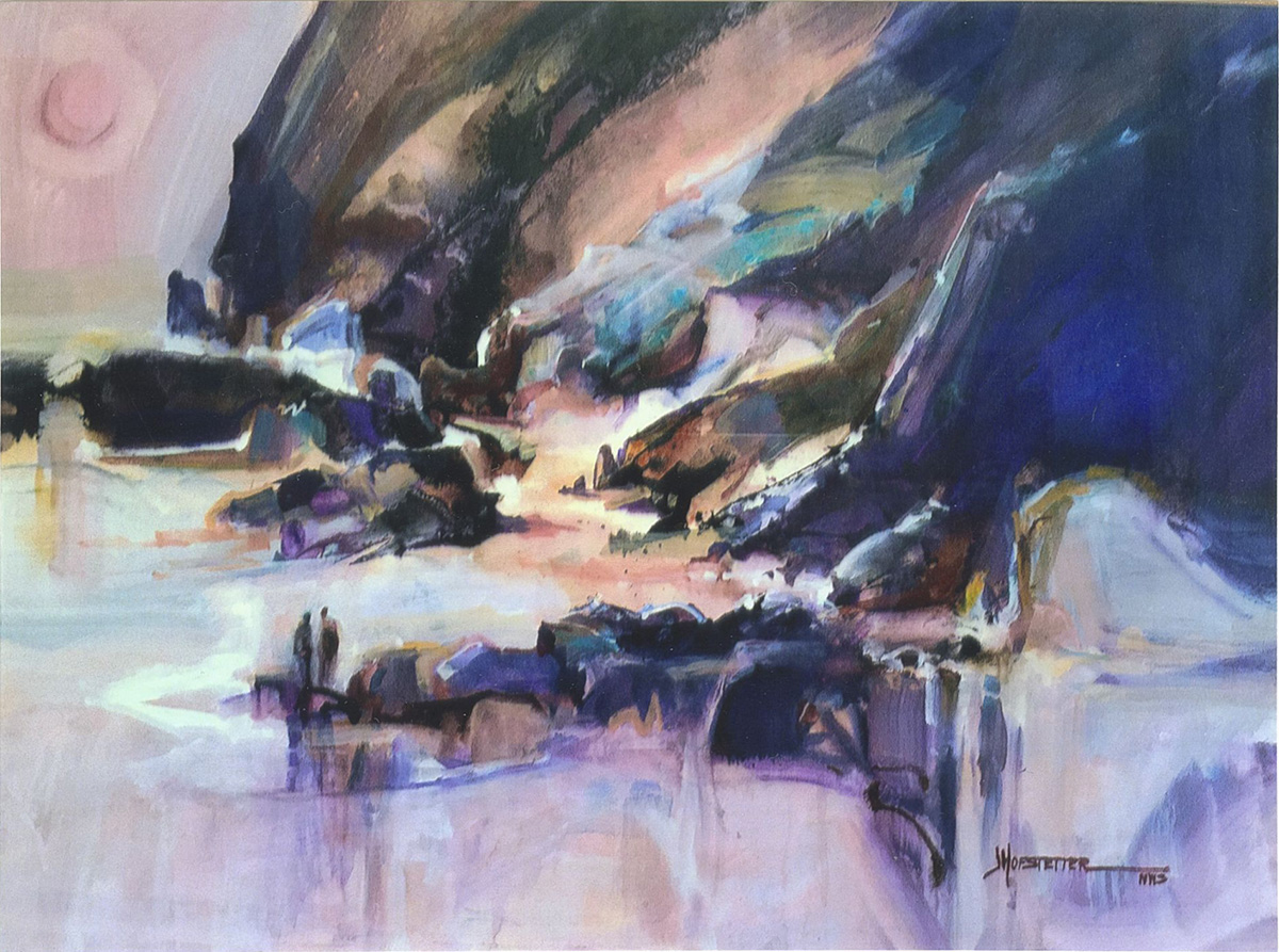 Shore Shapes, watercolor by Jane Hofstetter