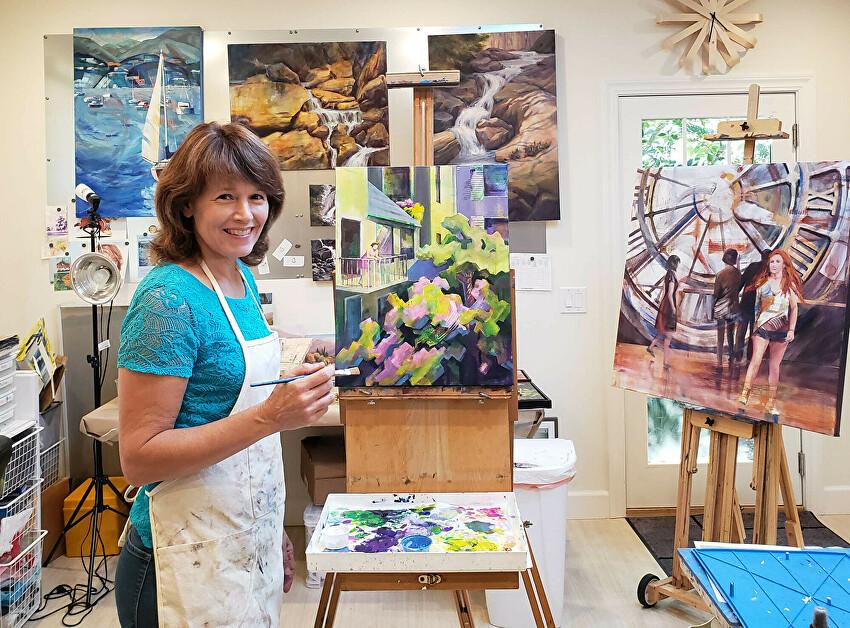 Kaaren Marquez in her studio